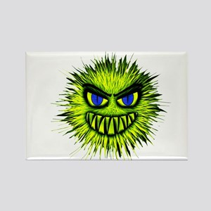 Green Spiky Monster Magnets