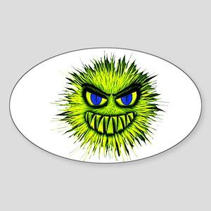 Green Spiky Monster Sticker