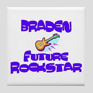 Braden - Future Rock Star Tile Coaster