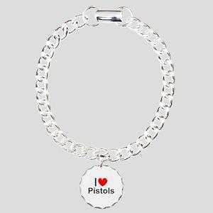 Pistols Charm Bracelet, One Charm