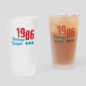 1986 Vintage League Drinking Glass