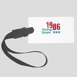 1986 Vintage League Large Luggage Tag