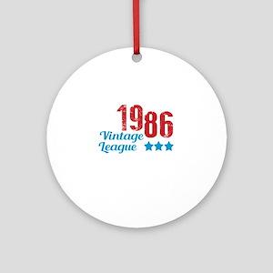 1986 Vintage League Round Ornament