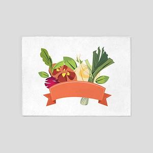 Vegetables 5'x7'Area Rug