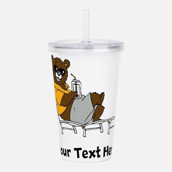 Bear Lounging (Custom) Acrylic Double-wall Tumbler