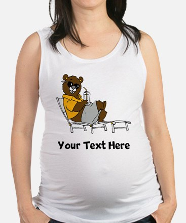 Bear Lounging (Custom) Maternity Tank Top