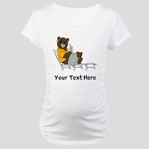 Bear Lounging (Custom) Maternity T-Shirt