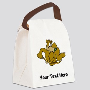 Bear Jumping Rope (Custom) Canvas Lunch Bag
