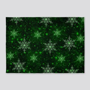 festive christmas pattern for wrapp 5'x7'Area Rug