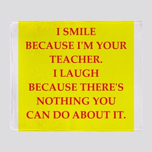 Education joke Throw Blanket