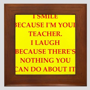 Education joke Framed Tile