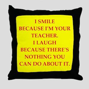 Education joke Throw Pillow