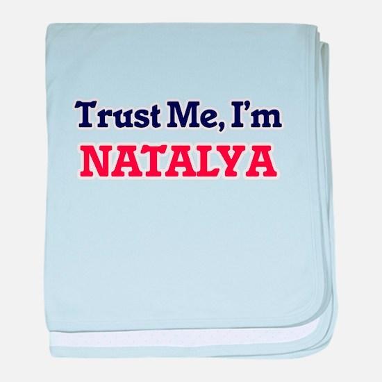 Trust Me, I'm Natalya baby blanket
