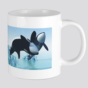 Dolphins and Orca's 20 oz Ceramic Mega Mug