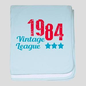1984 Vintage League baby blanket