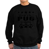 Pug grandma and pug grandpa Sweatshirt (dark)