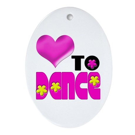Love to Dance Oval Ornament