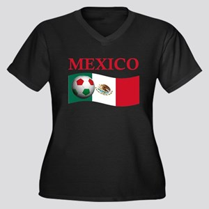 TEAM MEXICO WORLD CUP Women's Plus Size V-Neck Dar