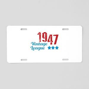 1947 Vintage League Aluminum License Plate