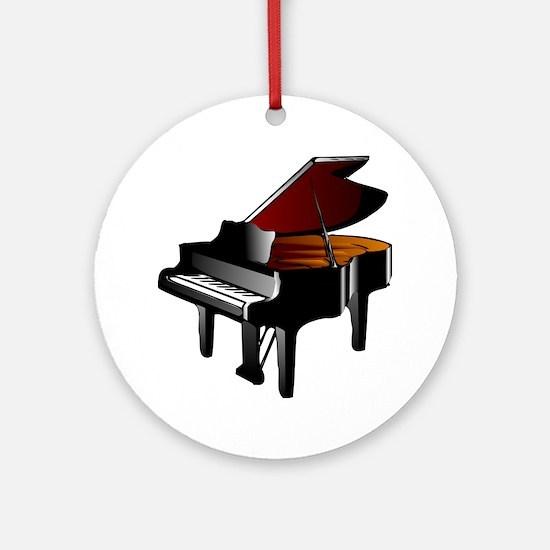 Cute Grand piano Round Ornament