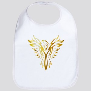 Phoenix Bird Gold Bib