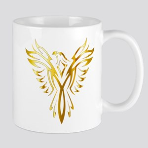 Phoenix Bird Gold Mugs