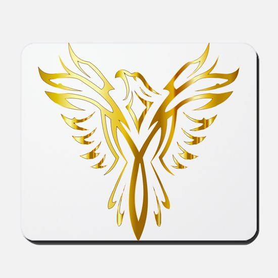 Phoenix Bird Gold Mousepad