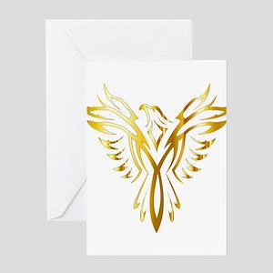 Phoenix bird greeting cards cafepress phoenix bird gold greeting cards m4hsunfo