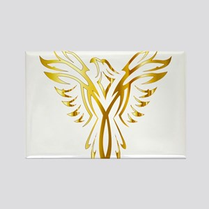 Phoenix Bird Gold Magnets