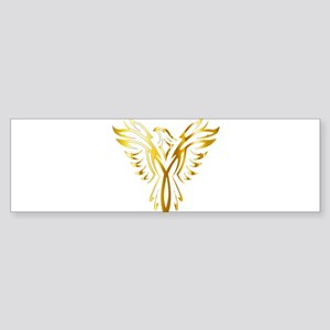Phoenix Bird Gold Bumper Sticker