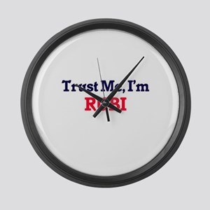 Trust Me, I'm Rubi Large Wall Clock