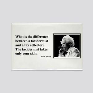 Twain on Taxes Rectangle Magnet