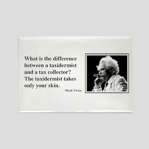 Twain on Taxes Rectangle Magnet