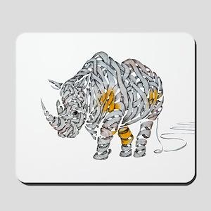 Paper Rhino Mousepad