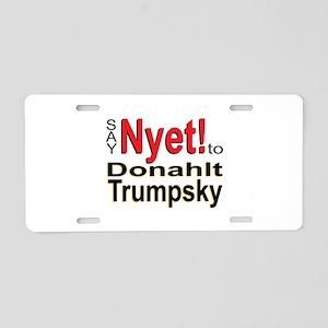 Nyet! Aluminum License Plate