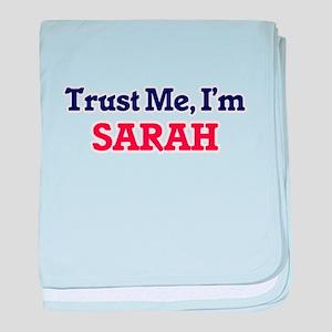 Trust Me, I'm Sarah baby blanket
