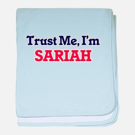 Trust Me, I'm Sariah baby blanket