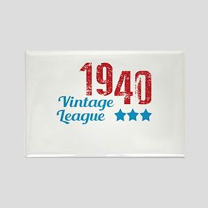 1940 Vintage League Rectangle Magnet