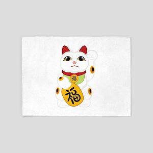 Asian Kitty 5'x7'Area Rug