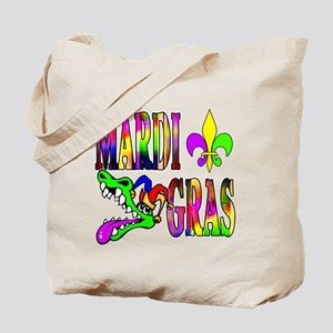 Mardi Gras with Gator Tote Bag
