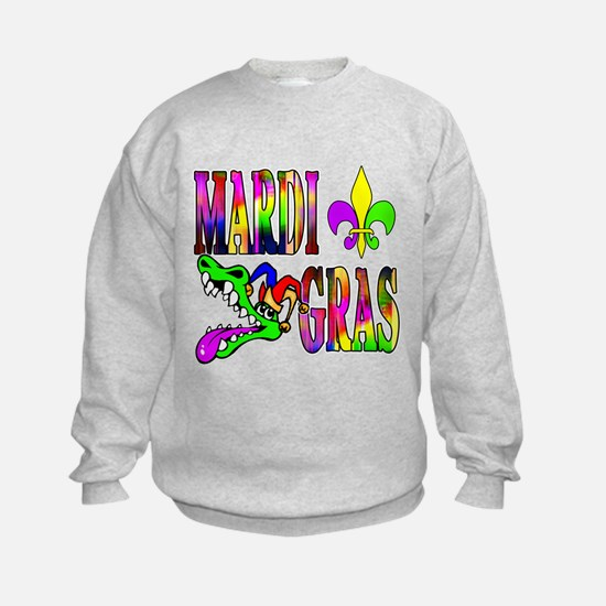 Mardi Gras with Gator Sweatshirt