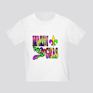 Mardi Gras with Gator Toddler T-Shirt