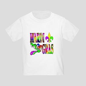 Mardi Gras with Gator Toddler T-Shirt