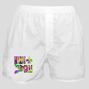 Mardi Gras with Gator Boxer Shorts