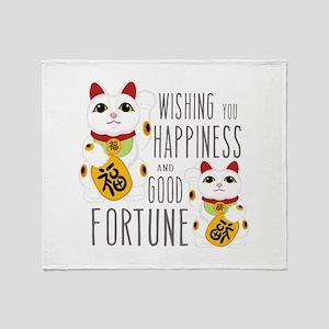 Wishing Happiness Throw Blanket
