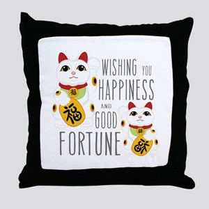 Wishing Happiness Throw Pillow