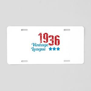 1936 Vintage League Aluminum License Plate