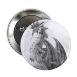 "Water Dragon Drawing 2.25"" Button (10 pack)"