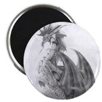 "Water Dragon Drawing 2.25"" Magnet (10 pack)"