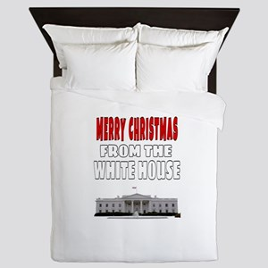 MERRY CHRISTMAS FROM THE WHITE HOUSE Queen Duvet